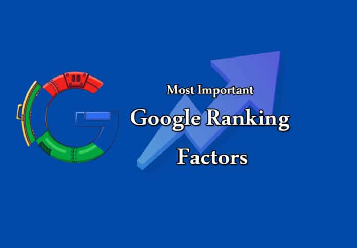 Most Important Google Ranking Factors